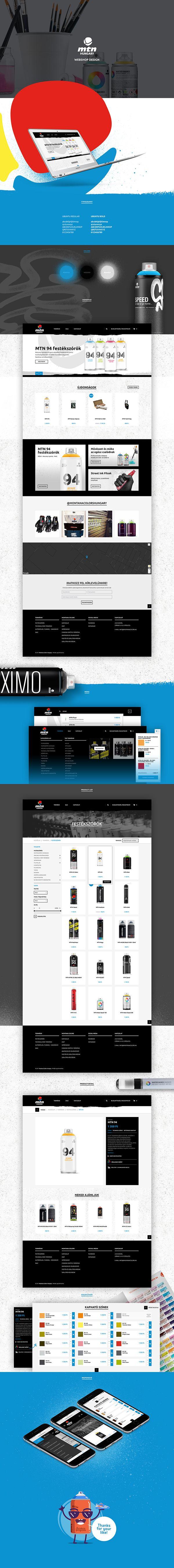 Montana Colors webshop design by Peter Magyar
