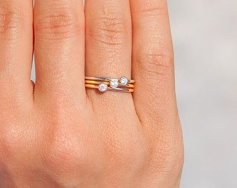 Stacking Rings Stacking Gold Rings Stacking Silver Rings by NIXIN