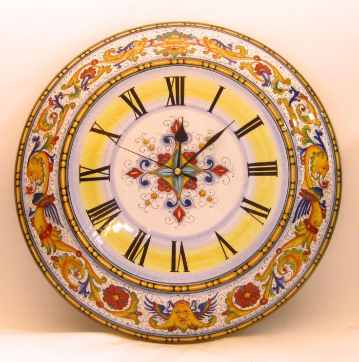 Grande orologio da muro di 60 cm. con decoro Raffaellesco Big wall clock cm.60 Raffaellesco design