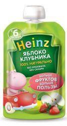 Хайнц пюре яблоко, клубника с 6 мес 100г  — 47р. --------------- Пюре «Heinz» яблоко/клубника предназначено для питания детей ввозрасте от6месяцев.    Вяблочном пюре содержатся органические кислоты, которые имеют особое значение для детей первого года жизни. Пектин благоприятно влияет наработу желудочно-кишечного тракта, способствуя процессу пищеварения. Витамин Сотвечает заразвитие кровеносных сосудов, зубов, костей, улучшая усвоение железа. В клубнике присутствуют витамины группы…