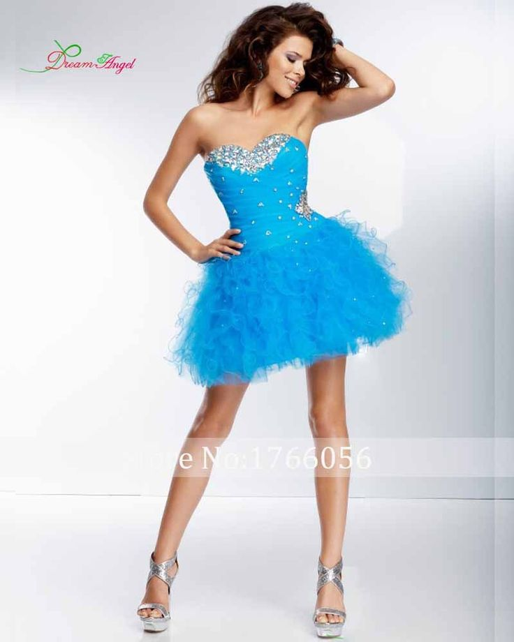 Free Shipping 2017 Hot Sale Sexy Vestido De Festa Curto Crystal Ruffled Tulle Skirt Sweetheart Ball Gown Short Cocktail Dress