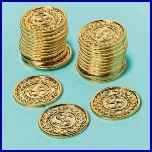 Pirate Fun Gold Coins, $5.59 Cdn pkg/144.