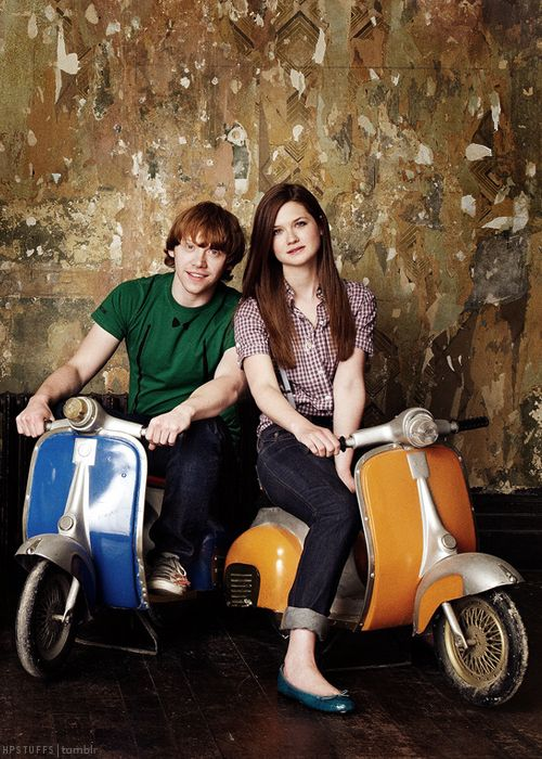 Rupert Grint and Bonnie Wright