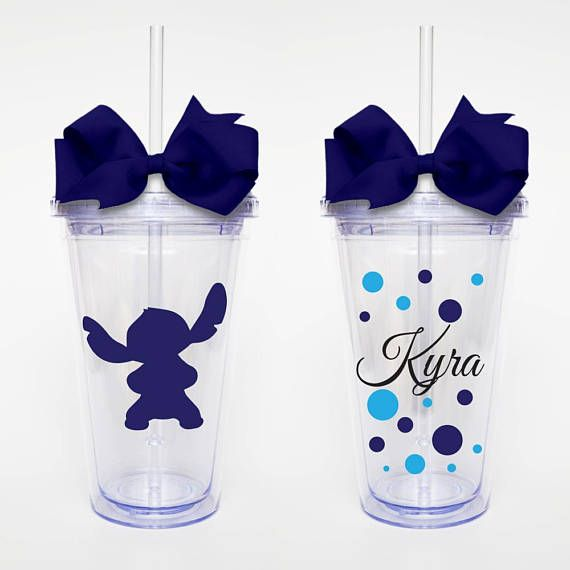 Stitch Disney Character with Name Acrylic Tumbler