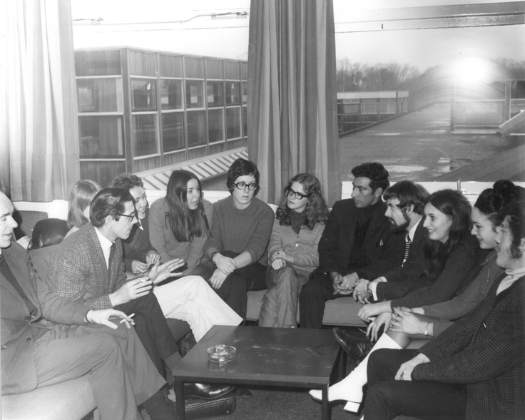 Lively Discussion in the Common Room. 1970. © K.M. Andrew.
