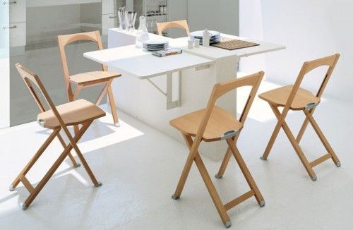 10 Ideas To Use Small Folding Tables On A Kitchen
