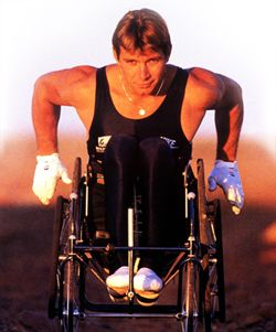 Rick Hansen...probably one of the nicest guys I've interviewed. Laughed often and at himself. Great sense of humour, and an excellent role model.