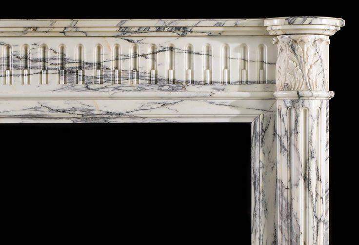 Arabescato Мраморный Людовик XVI Античный камин |  Westland London