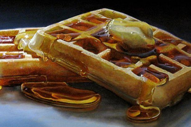 """Waffles""  Mary Ellen Johnson -- Big Food Collection"