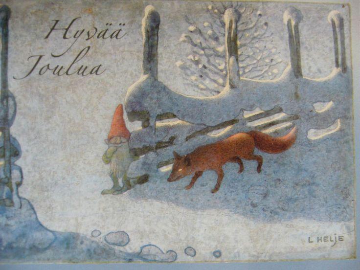 Finnish Christmas card (Hyvää Joulua = Good Christmas)