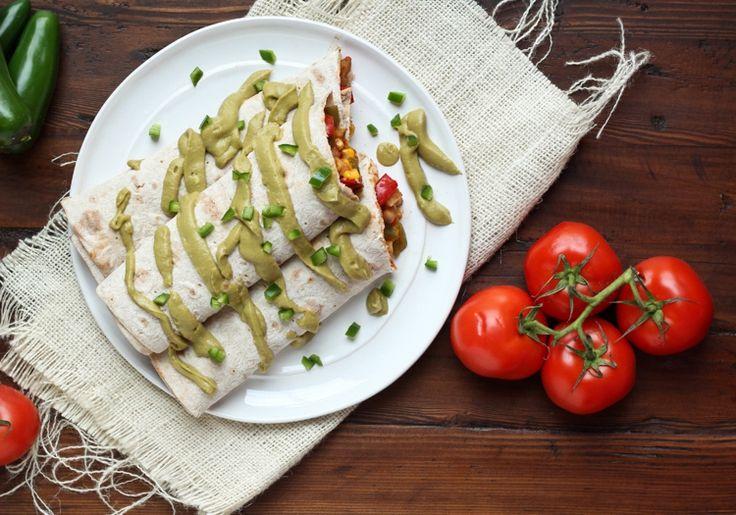 Burrito Rezept vegetarischer Art - Mit Avocado