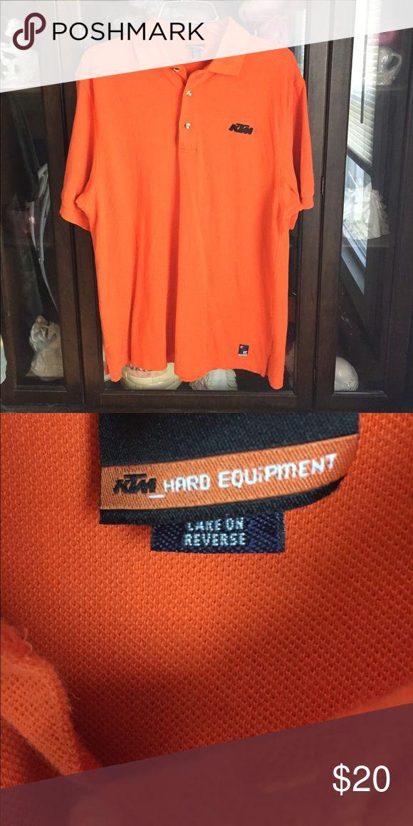Men's KTM Hard Equipment Orange Polo Sport Shirt This item is in great shape! KTM Hard Equipment Shirts Polos