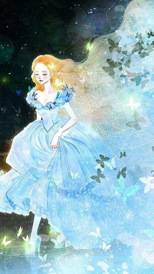 Cinderella (Ella) fantasy illustration from Cinderella 2015 fairy tale movie