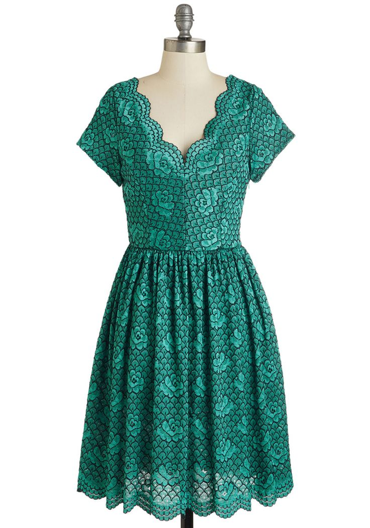 So cute!!! Try to Sea it My Way. You have good reason for adoring this teal dress with the vigor that you do. #green #prom #wedding #bridesmaid #modcloth