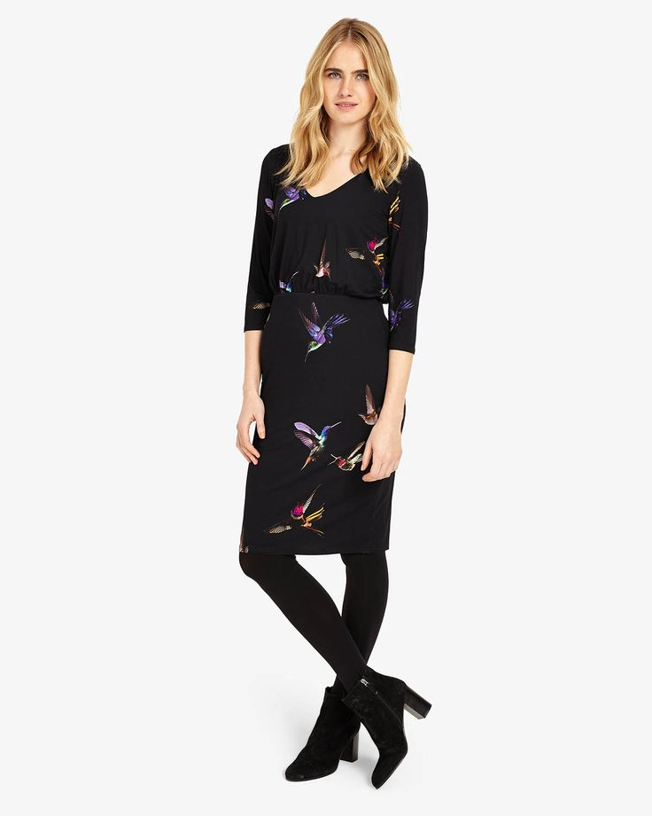 Phase Eight Bianca Bird Print Dress Multi  Pretty with a gorgeous print and v.neck - I'd want to see this one on to make a final call.
