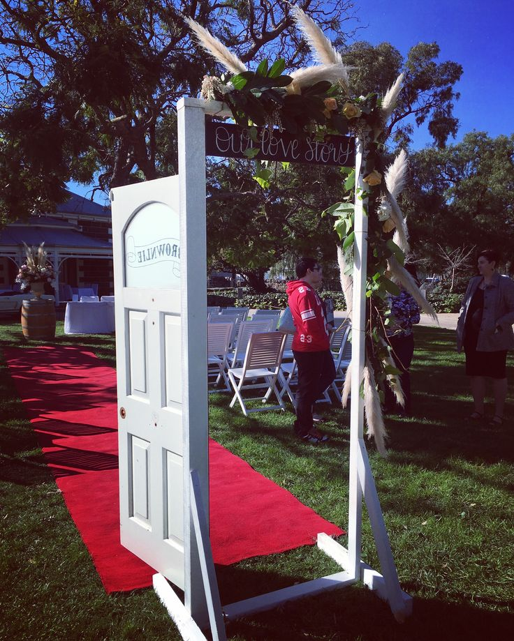 Rustic entrance door archway By - One Big Day Event Hire