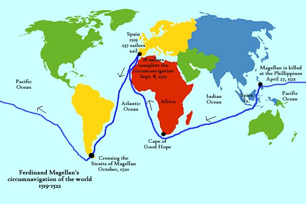 During the Age of Discovery, Ferdinand Magellan set sail around the world, proving that the world was not flat, which was the belief back then. With all the exploration happening during this time, people began to wonder more about the ocean and about the living creatures in it. Therefore, naturalists starting accompanying explorers on their voyages to make scientific observations.