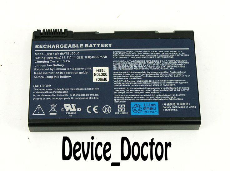 Acer Aspire 5610Z Genuine 11.1V 4Ah Li-ion Laptop Battery BATBL50L6