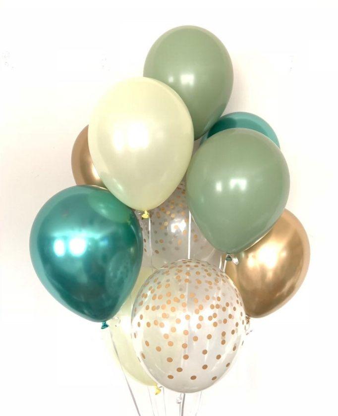 12/'/' Glitter Confetti Latex Balloons Wedding Xmas Decor Baby Shower Birthday  UK