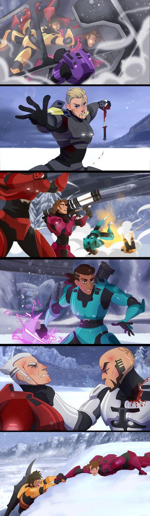 Red VS Blue - Screenshots Redraws 2 by YAMsgarden on DeviantArt