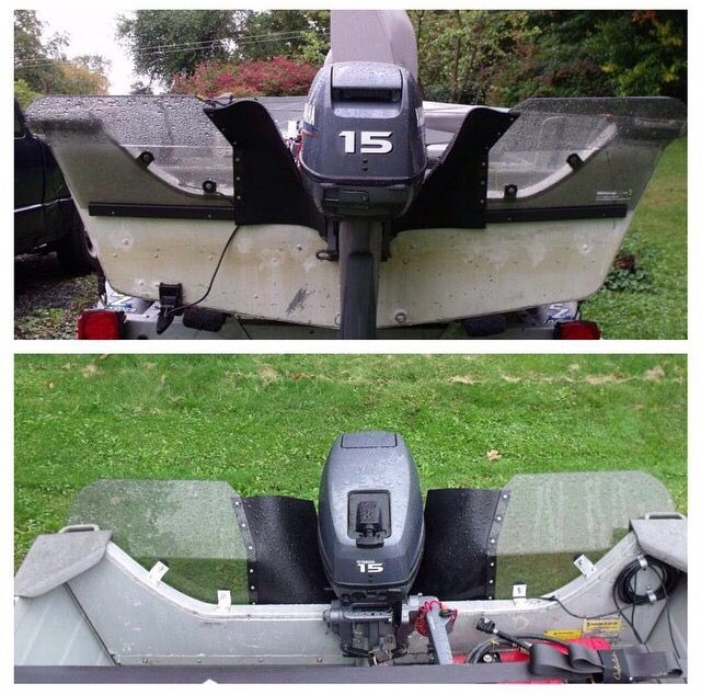 Tin Boat Splash Guards. Protection against the rollers against the stern. www.TinBoatOutdoors ...