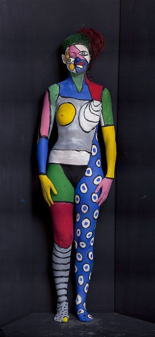 Olaf Breuning exhibits large scale painted humans