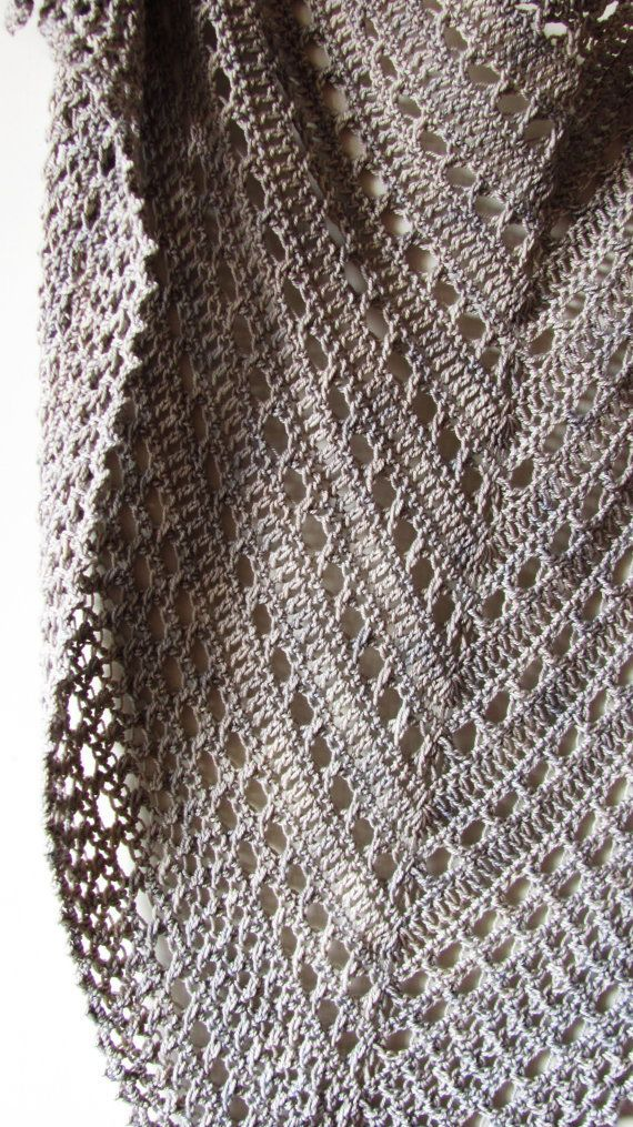 "Northern Sea is a triangular shape shawl crocheted from the top down. It starts from the eyelet rows and ends with a textured knitted-look border made of crossed stitches. Size is easily adjustable by skippingadding more repeats both in eyelet and border sections. Finished size: 69"" x 30"" (175 x 75 cm) Pattern both written and charted. Materials needed: • 4 skeins of DK weight yarn, about 220 yards (200 meters) per 100 grams. You will need 750 yards (690 meters) total. • 5 mm (H) hook • ..."