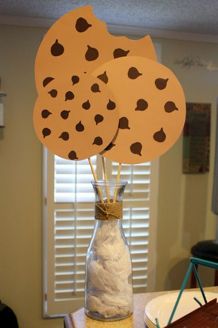For a Rainy Day: Milk and Cookies Birthday Banners