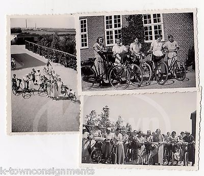 YOUNG LADY'S BICYCLE CLUB GERMANY NICE ANTIQUE BIKES VINTAGE SNAPSHOT PHOTOS LOT