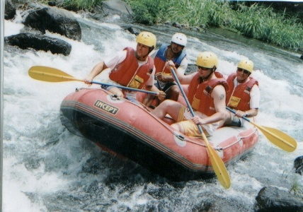Dad and me rafting