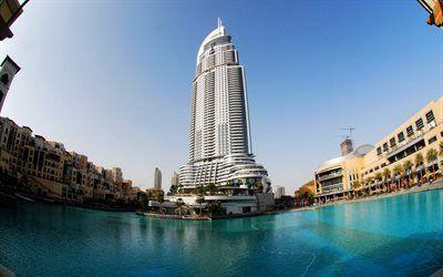 Scarica sfondi di lusso, dubai, grattacieli, emirati arabi uniti
