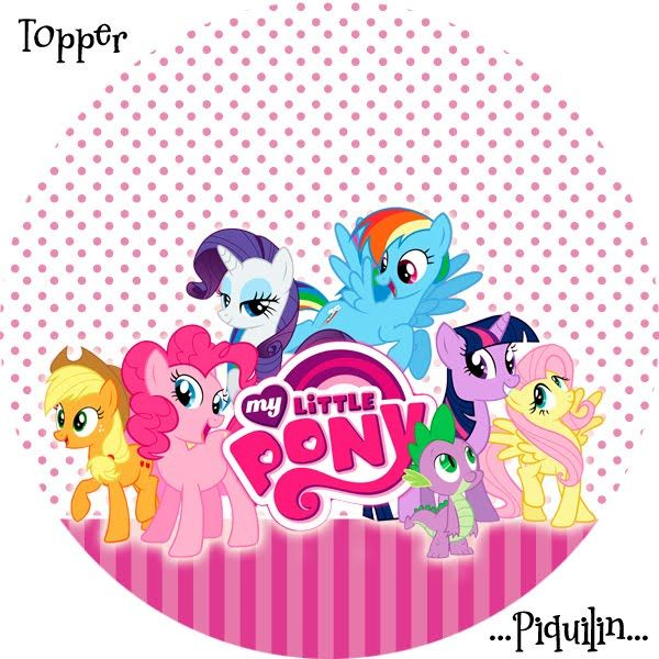 Kits Imprimibles Piquilin: Kit Imprimible My Little Pony GRATIS