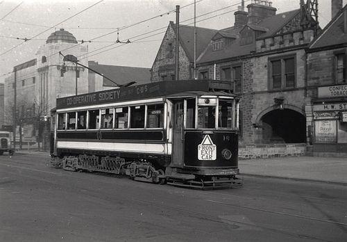 Tram on Gosforth High Street