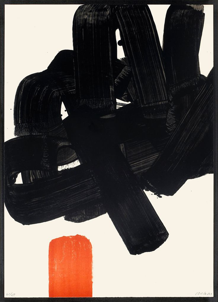 Pierre Soulages | Lithographie No. 24b (R. 123), Lithograph in colors on Arches paper, 1969