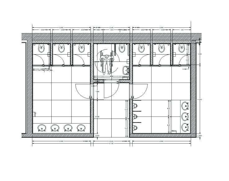 Public Bathroom Plan Offices Toilet Layout Con Google Public