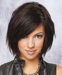 (grow into this) This fancy bob is jagged cut all over to create a wispy look and feel for a fun and flirty finish. This is great for those with naturally fine straight hair as it will take no time at to style