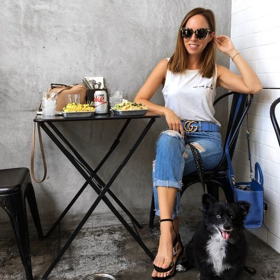 Boyfriend jeans and a muscle tank with a side of Gucci for lunch  #ssCollective #ShopStyleCollective #MyShopStyle #ootd #mylook #summerstyle