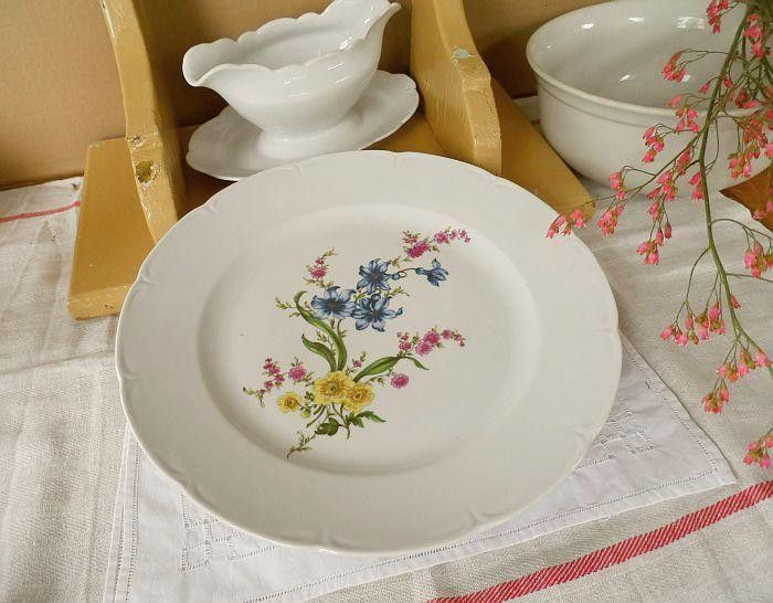 Vintage Kitchenware – a large plate of J L Menau – a unique product by Dakry on DaWanda