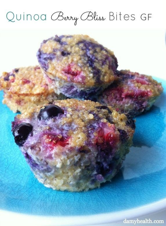 Quinoa Berry Bliss Bites - how's this for an alternative to muffins! Gluten and grain free!