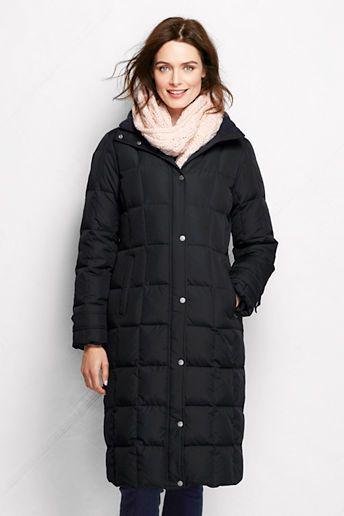 Lands' End Women's Down Chalet Long Coat on shopstyle.com