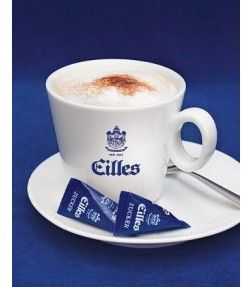 EILLES Cappuccino Tasse mit Design Untersetzer