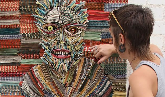 Art made from books!