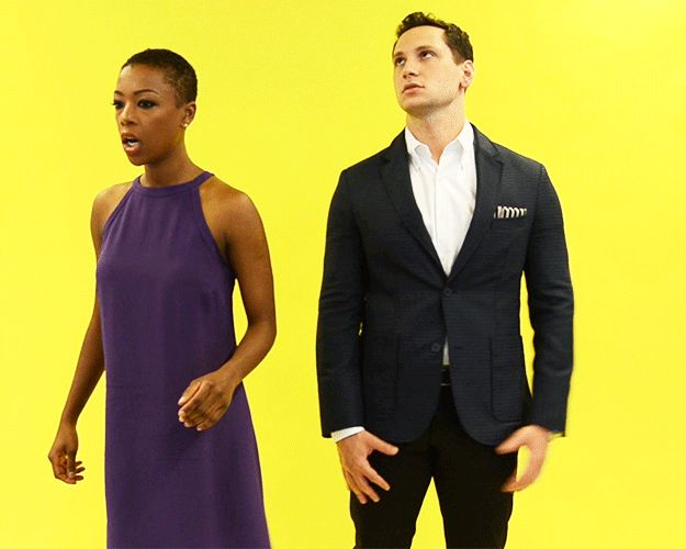 Samira Wiley And Matt McGorry React To 13 Real Struggles Of Life Number 5 is my favourite. The butt grab!