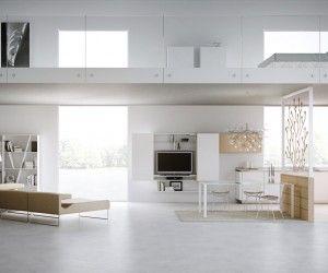 Modern loft layout