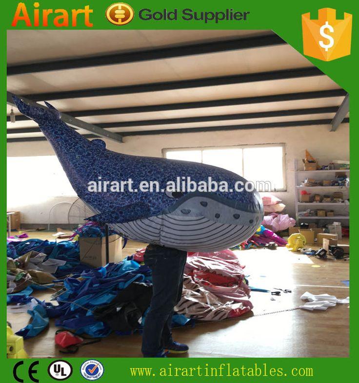 Custom adult mobile inflatable shark costume