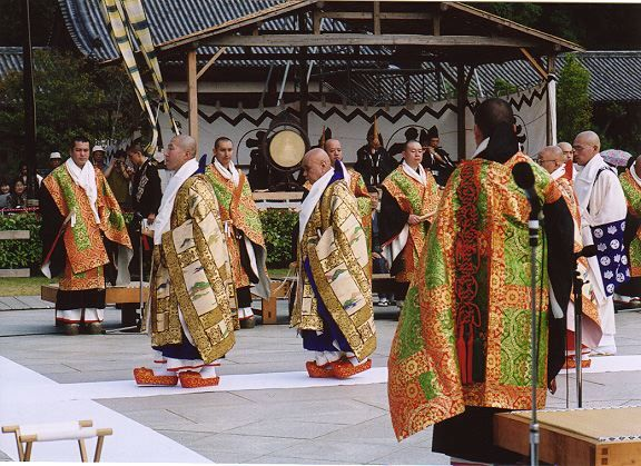 colorful Kesa have been part of Buddhism in Japan since the very beginning. These folks are from the Kegon Sect, one of the earliest sects of Japanese Buddhism (centuries before Zen came to Japan). Here is a photo of some modern Kegon priests ...