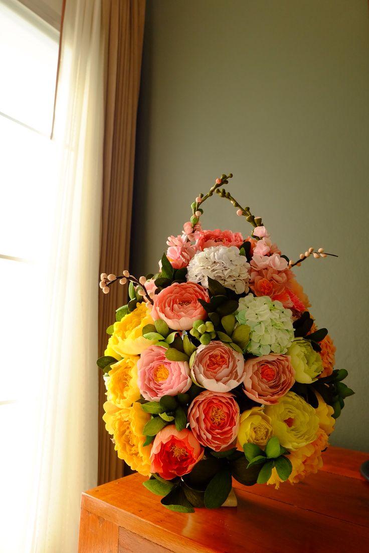 20 Best Diycrafts Images On Pinterest Fabric Flowers Crepe Paper