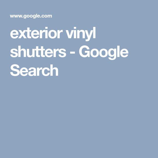 exterior vinyl shutters - Google Search