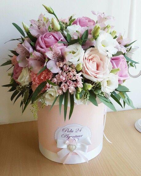 Шляпная коробочка с цветами от Pidu 24 Agentuur. Для заказа www.facebook.com/teiepidu