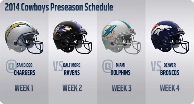 2014 Dallas Cowboys Preseason Schedule 2014 - The Boys Are Back website